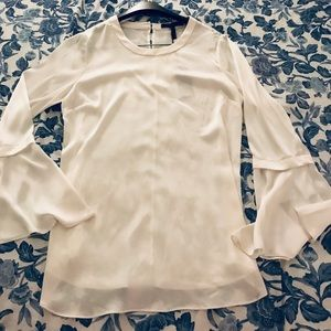 BCBGMAXAZRIA long sleeve optic white